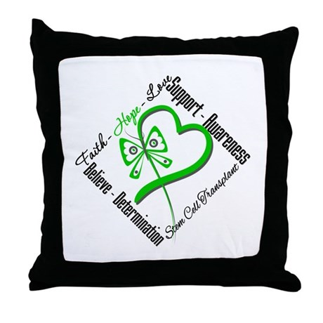 StemCellTransplant Heart Throw Pillow