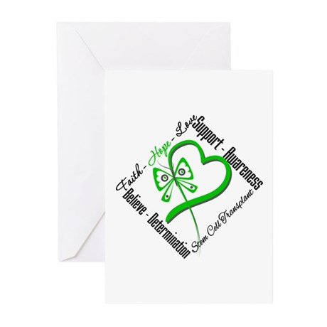 StemCellTransplant Heart Greeting Cards (Pk of 10)