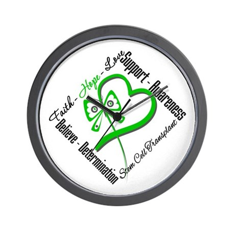 StemCellTransplant Heart Wall Clock
