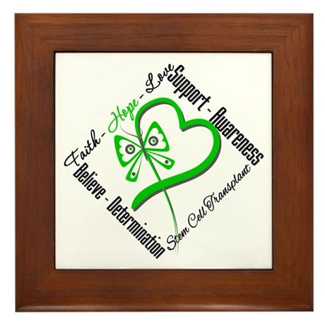 StemCellTransplant Heart Framed Tile