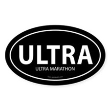 Ultra Marathon Bumper Sticker -Black (Oval)