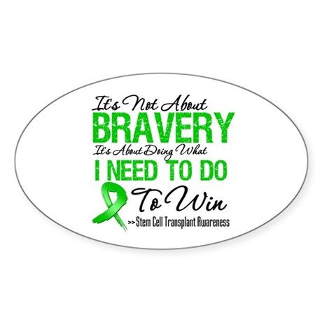 BraveryStemCellTransplant Oval Sticker