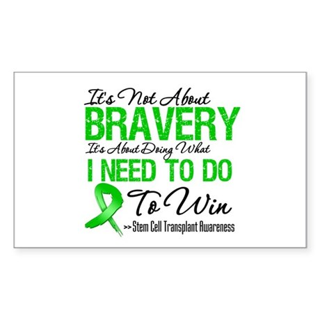 BraveryStemCellTransplant Rectangle Sticker 50 pk