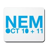 Mousepad - NEM OCT 10+11 (blue)