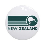 New Zealand Kiwi Stripes Ornament (Round)