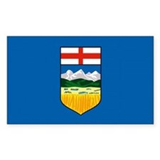 Alberta Canada Flag Rectangle Decal
