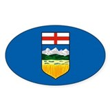 Alberta Canada Flag Oval Decal