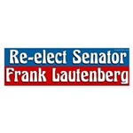 Re-elect Frank Lautenberg bumper sticker