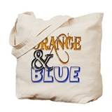 Orange and Blue Florida Gator Tote Bag