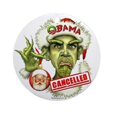 Obama Grinch Ornament (Round)