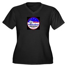 Huckabee 2012 Women's Plus Size V-Neck Dark T-Shir