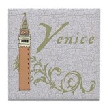 Venice St. Mark's Campanile Tile Coaster