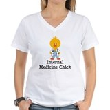 Internal Medicine Chick Shirt
