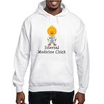 Internal Medicine Chick Hooded Sweatshirt
