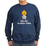 Internal Medicine Chick Sweatshirt (dark)
