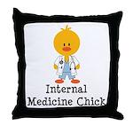 Internal Medicine Chick Throw Pillow