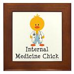 Internal Medicine Chick Framed Tile