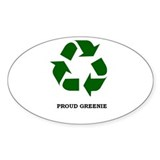 Proud Greenie Fat Pack (50 Oval Stickers)