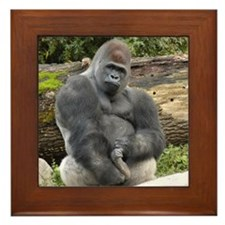 Gorillas Framed Tile