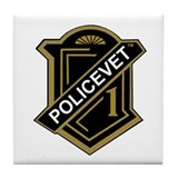 Policevets Shield Tile Coaster