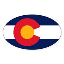 Colorado Flag Original Oval Decal