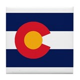 Colorado Flag Original Tile Coaster
