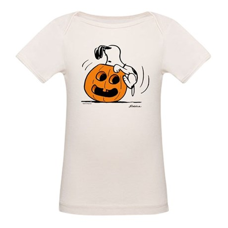 Snoopy Jack O' Lantern Organic Baby T-Shirt