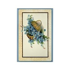Forget-Me-Nots Rectangle Magnet