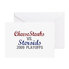 Cheesesteaks Steroids Greeting Card
