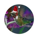 Ho Ho Ho Hummingbird Ornament (Round)