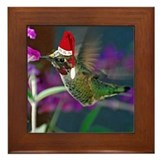 Ho Ho Ho Hummingbird Framed Tile