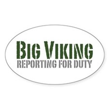Big Viking Oval Decal