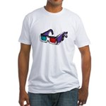 3D Glasses Fitted T-Shirt