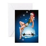 Pinup Girl Christmas Greeting Cards (Pk of 10)