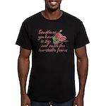 Two-Stroke Roses Men's Fitted T-Shirt (dark)