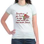 Two-Stroke Roses Jr. Ringer T-Shirt
