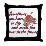 Two-Stroke Roses Throw Pillow