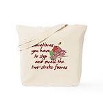 Two-Stroke Roses Tote Bag