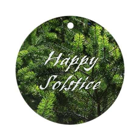 Evergreen Solstice Ornament (Round)