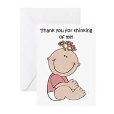 Thank You Girl Greeting Cards (Pk of 10)