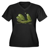 Kakapo Women's Plus Size V-Neck Dark T-Shirt