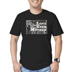 Love Your Mother (board) Men's Fitted T-Shirt (dar