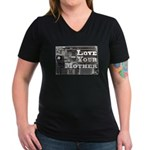Love Your Mother (board) Women's V-Neck Dark T-Shi