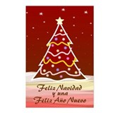 Xmas Tree - spanish Postcards (Package of 8)