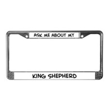 Ask me: King Shepherd  License Plate Frame