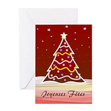 Xmas Tree - french2 Greeting Card