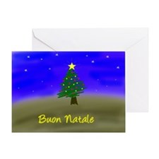 Xmas Evergreen - italian Greeting Card
