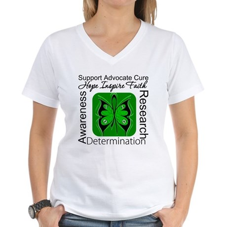 Stem Cell Transplant HOPE Women's V-Neck T-Shirt