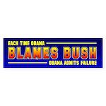 Obama Blames Bush Bumper Sticker