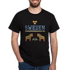 sweden Black T-Shirt
